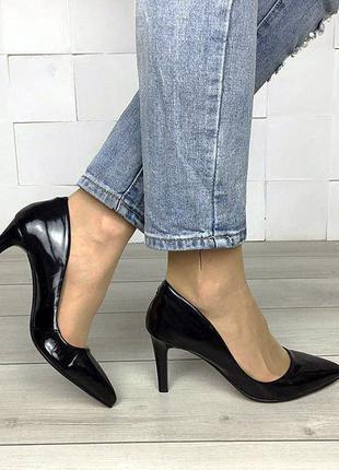 Женские лаковые туфли | Жіночі туфлі на підборах 👠