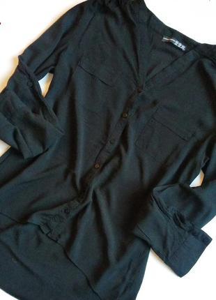 Рубашка, блуза atmosphere , рукав регулируется, удлиненная спинка