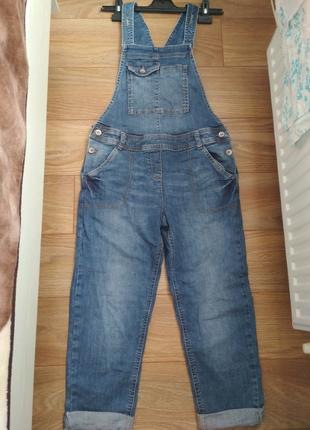 Классный джинсовый комбинезон next рост 152 см, можно для бере...