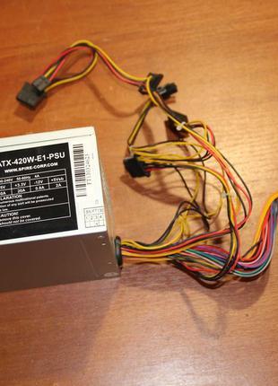Spire ATX-420W-E1-PSU 420w P4, 24pin+4pin, w/Sata, ATX