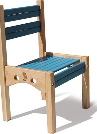 Дитячий стільчик дерев'яний Ведмедик 04-010 BL