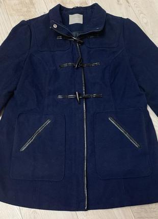 Синяя теплая вельветовая с утеплителем куртка размер л/хл orsay