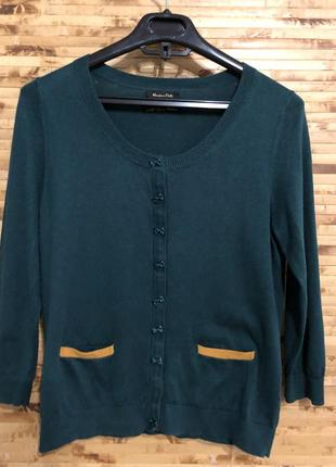 Кофта свитер зеленого цвета massimo dutti