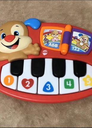Интерактивная игрушка fisher-price пианино умного щенка
