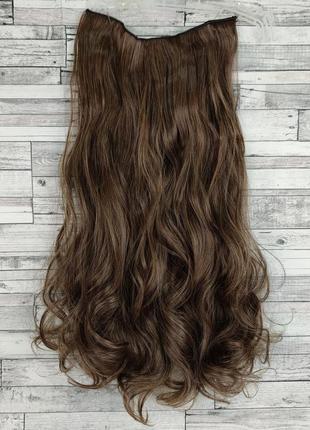 Волосы на заколках на ленте 55см 24см золотистый каштановый, с...