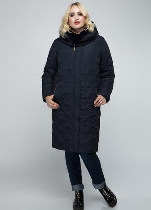 Зимняя удлиненная куртка-пальто батал р-р50,52,54,56,58,60