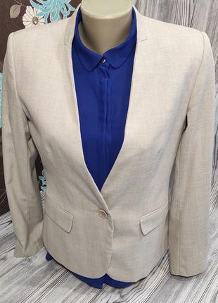Базовый пиджак блейзер жакет с карманамир.44-46 (М\8\40) ZARA