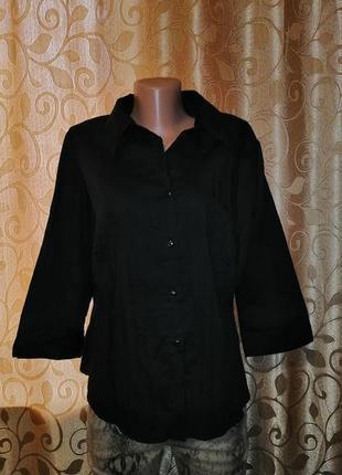 🌺🎀🌺стильная женская черная блузка, рубашка 20 размера dorothy ...
