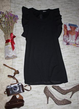 Черное платье. сарафан с воланами zebra