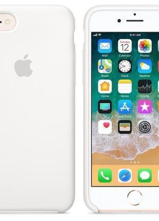 Силиконовый чехол Apple iPhone SE / 8 / 7 Silicone Case White