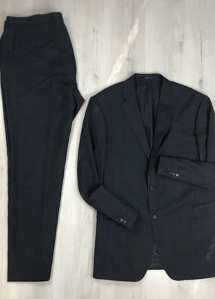 F0 n9 костюм  шерстяной клетчатый в клетку приталенный пиджак/...
