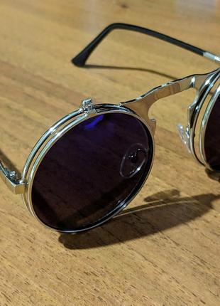 Очки двойные солнцезащитные круглые