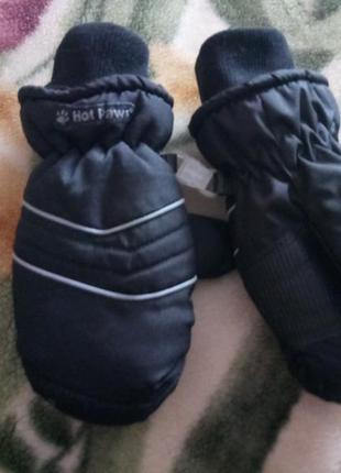 Теплые зимние рукавицы на 3-5 лет