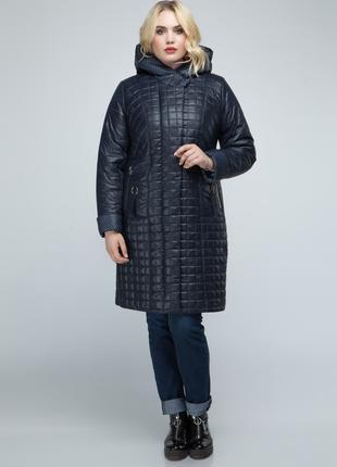 Женская удлиненная демисезонная куртка - пальто