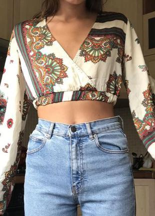 Блузка prettylittlething с широкими рукавами