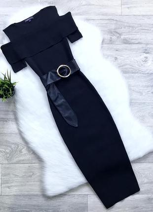 Нарядное платье миди по фигуре (плотная ткань)