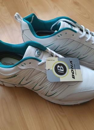 Кожаные кроссовки bona 47 размер стелька 31 см.
