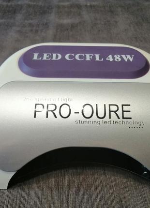 Гибридная лампа для маникюра ccfl + led 48w на запчасти
