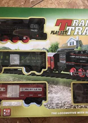 Железная дорога с поездом 17 деталей, свет, муз., в короб. 40х...