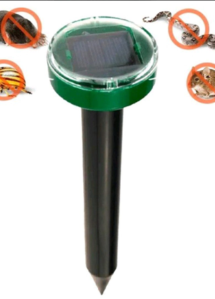 Отпугиватель грызунов кротов и насекомых аккумуляторный на солнеч