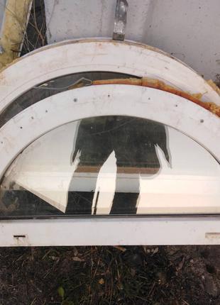 Металопластиковые радиусные однокамерные окна REHAU