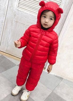 Демисезонный комплект куртка+штаны красный