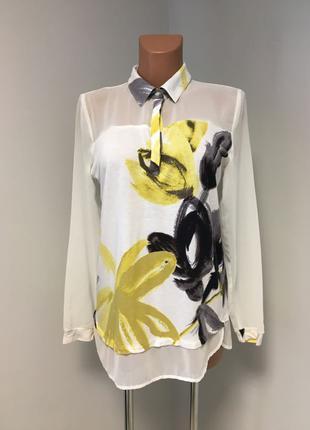 Классная блуза рубашка вискоза шифон
