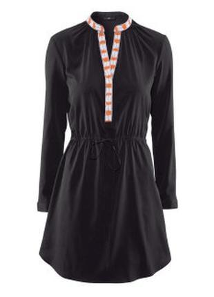 Стильное платье рубашка с планкой и длинным рукавом