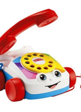 Динамичная игрушка-каталка веселый телефон fisher-price для ма...