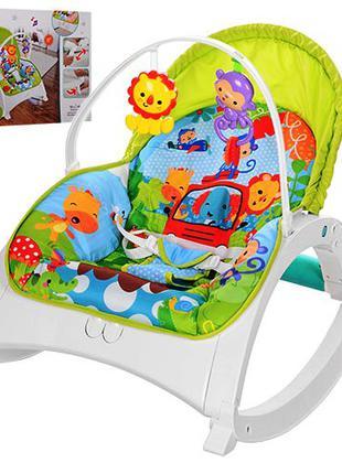 Детский шезлонг качалка кресло 88955 до 18 кг