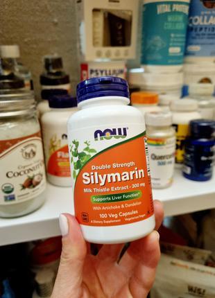 Now Foods, силимарин, экстракт расторопши, 300 мг, 100 капсул