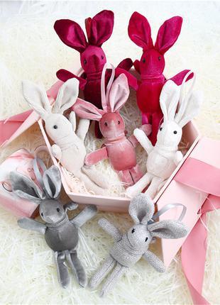 20 см плюшевая детская милая и забавная игрушка-брелок кролик