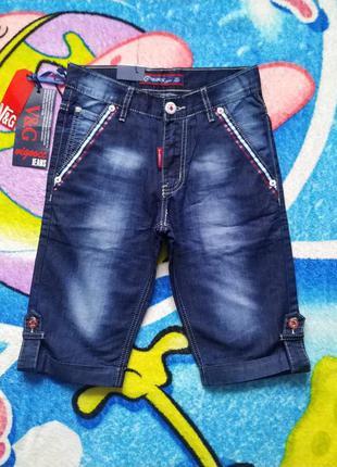 Новые джинсовые шорты,бриджи для мальчика 11-12 лет