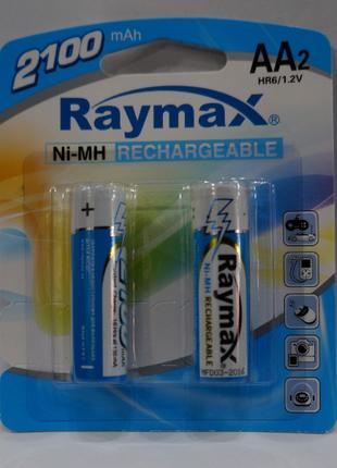 Никелевый Аккумулятор 2100 mAh Raymax 2 шт 1.2V Blister