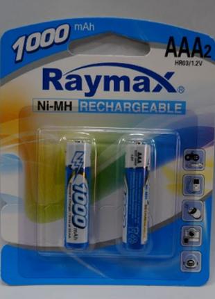 Аккумуляторная батарея ААА RAYMAX HR03- 1000 MAH (в блистере)