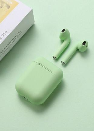 Беспроводные наушники   Inpods Macaron 12  сенсорные  Зелёные
