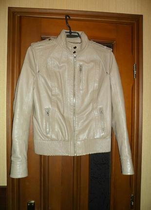 Кожаная куртка на резинке натуральная кожа легкая