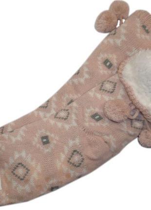 Меховые домашние носки с тормозками тапочки валенки нидерланды