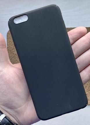 Чехол черный чохол на для айфон iphone 6 + s plus плюс пластик...