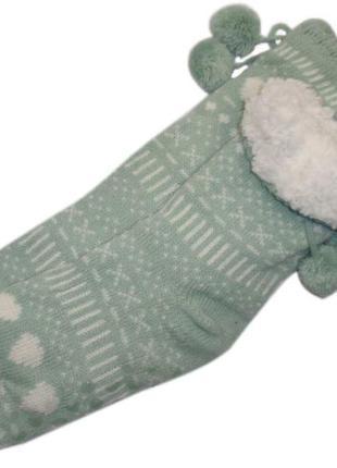 Меховые домашние носки  с тормозками тапочки валенки на меху н...