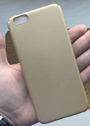 Чехол золотистый чохол на для айфон iphone 6 + s plus плюс пла...