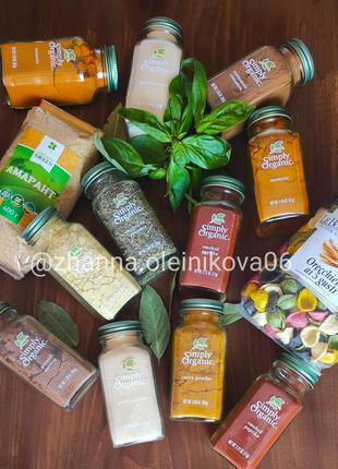 Simply Organic, органические специи