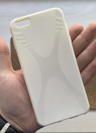 Чехол белый чохол на для айфон iphone 6 + s plus плюс силиконовый