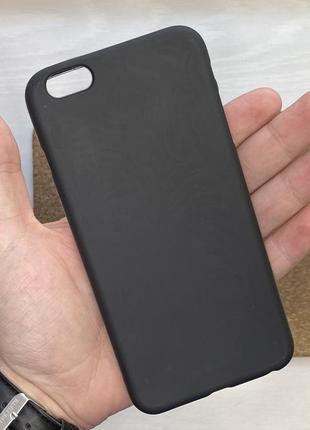 Чехол черный чохол на для айфон iphone 6 + s plus плюс силикон...