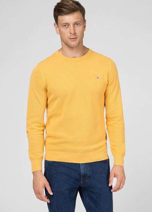 Gant мужской жёлтый джемпер