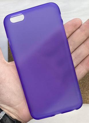 Чехол фиолетовый чохол на для айфон iphone 6 + s plus плюс сил...