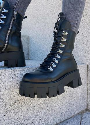 Женские ботинки берцы мартинсы 36-41р натур кожа