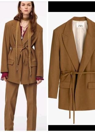 Новый Пиджак жакет zara лимитированная коллекция шерстяной пиджак