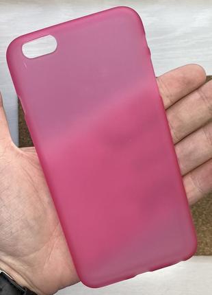 Чехол розовый чохол на для айфон iphone 6 + s plus плюс силико...
