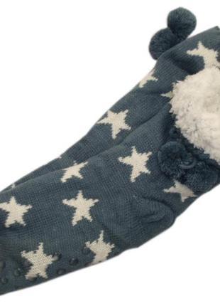 Меховые домашние носки с тормозками валенки тапочки на меху ни...